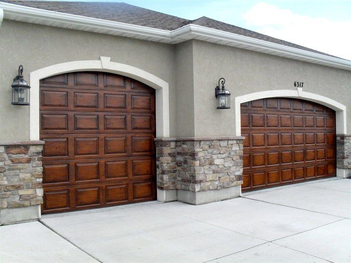 1000 images about faux painted garage doors on pinterest for Faux wood garage door