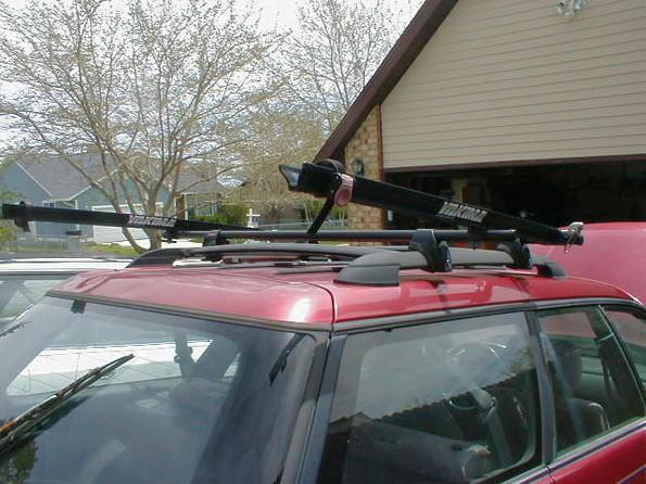 Subaru, wagon, SUV Yakima or Thule Railing Roof Rack Cross bars for Cargo