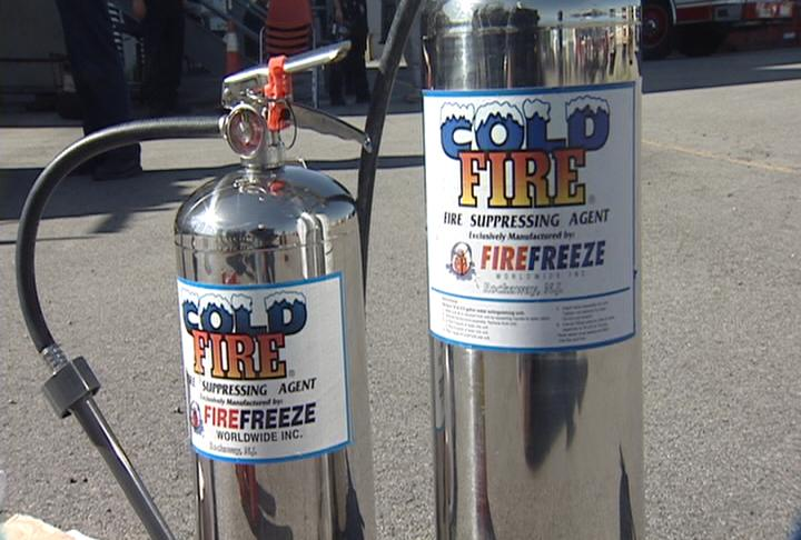 Cold Fire Extinguisher Fire Extinguishers on a
