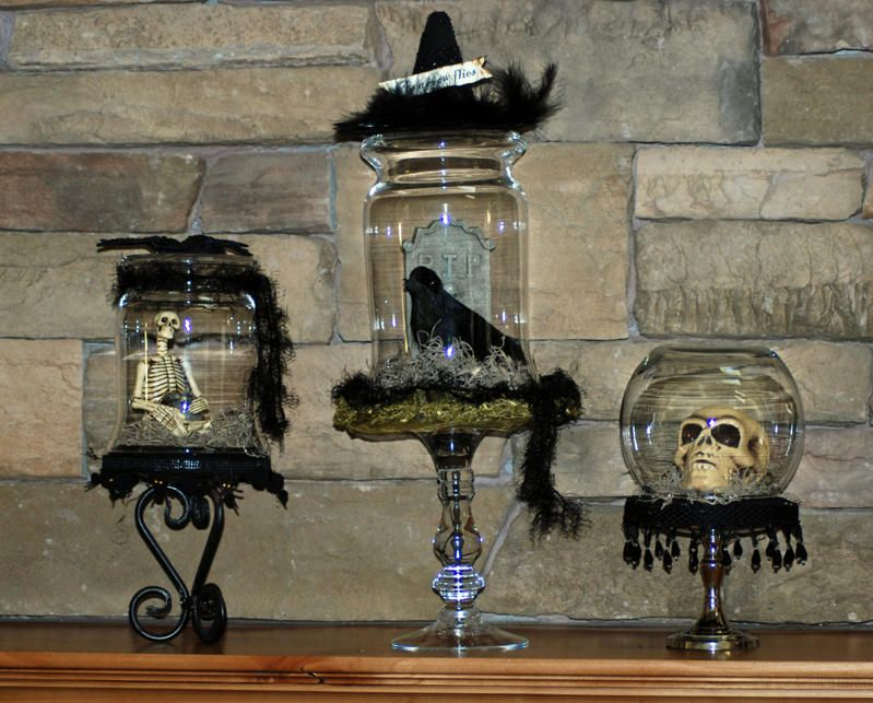 halloween terrariums - Halloween Home Decor