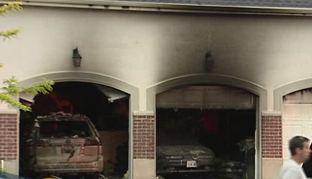 Fire burns garage in pleasant grove for Grove motors in pleasant grove