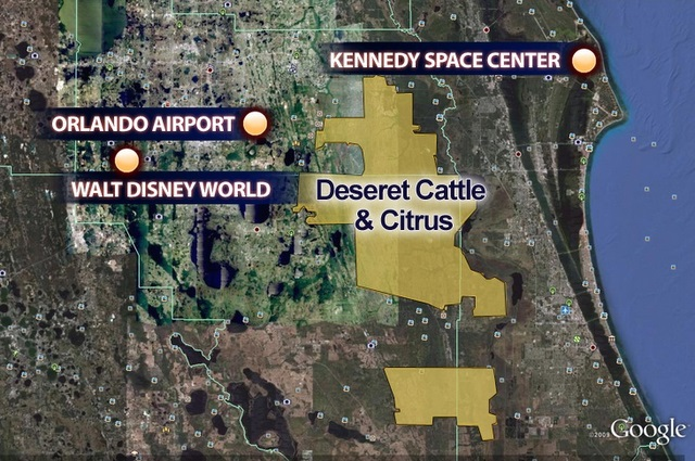 LDS Church Ranch Making Big Impact In Florida KSLcom - Map of us cattle ranches