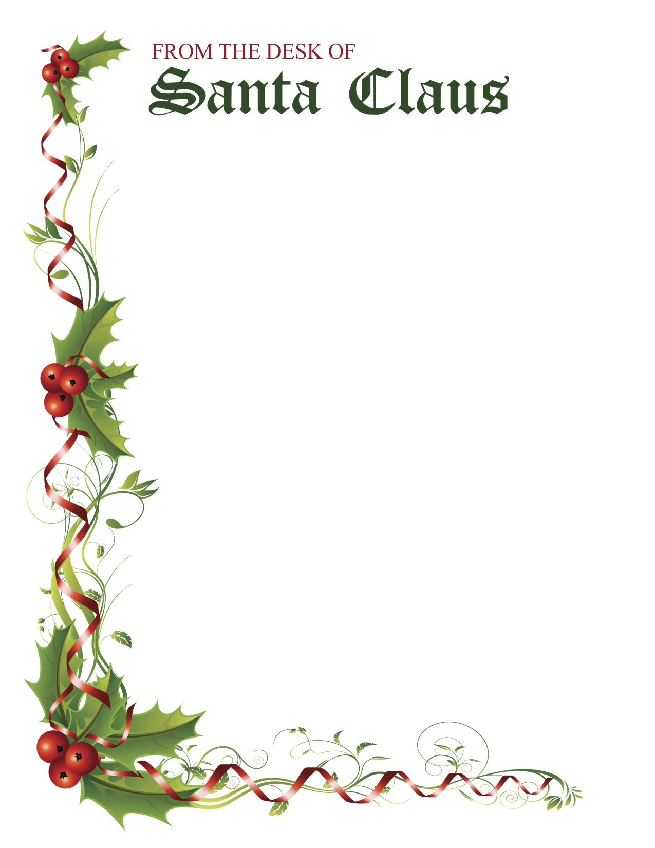 studio 5 letter from santa stationery