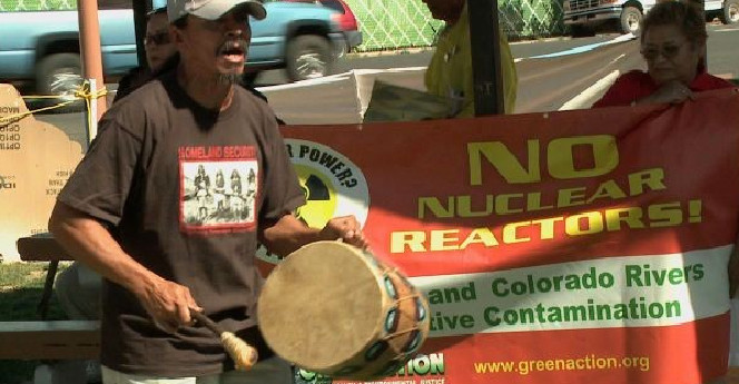 Environmental groups, tribes protest nuclear power plant along Green River