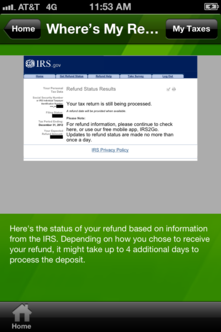no information beyond that the IRS was still processing their return