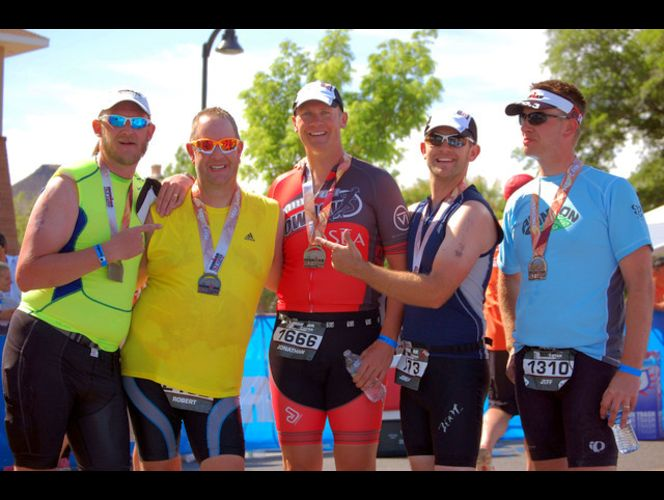 5 brothers complete the St. George Half Ironman together