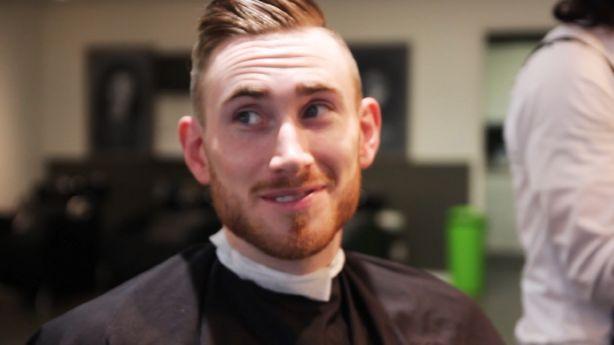 Jazz forward Gordon Hayward and his famous haircut ...