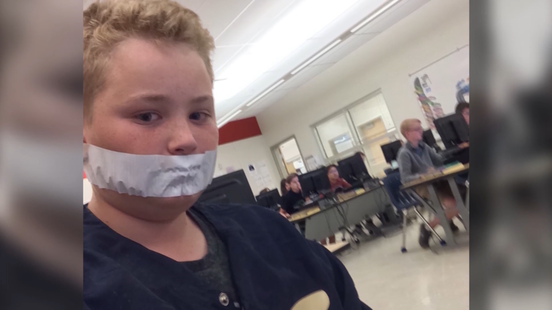 Students told to place duct tape over their mouths for speaking during class
