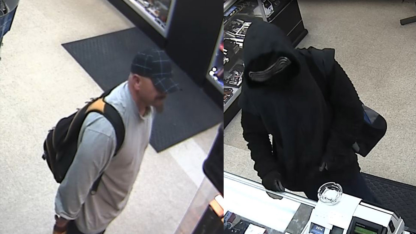 Police seek 2 men who brandished guns, threatened store employee