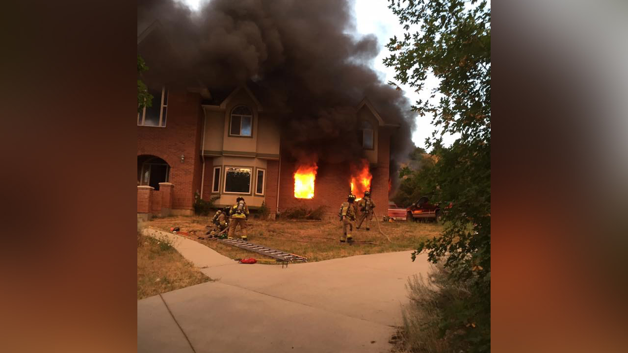 Provo house fire causes $100K in damage; 2 vehicles burned