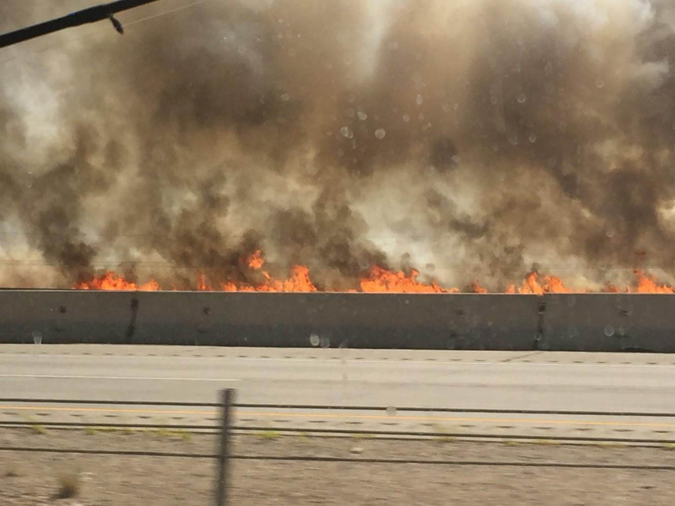 Fire closes EB I-84 in Morgan County