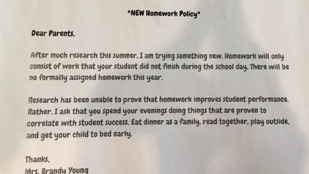 Too much homework for kids