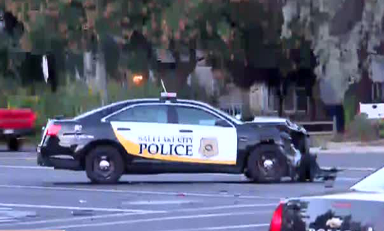 Officers injured after 2 police cars crash into each other