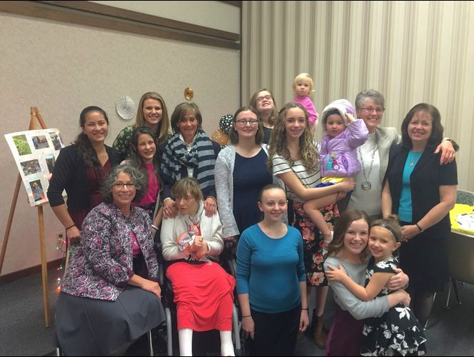 Young women earn award on behalf of peer with disabilities
