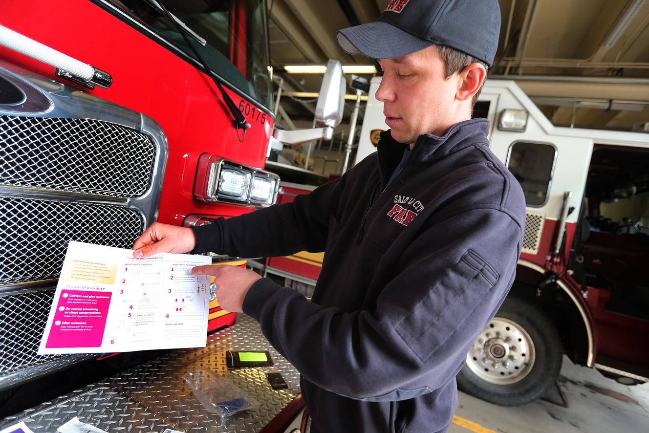 Salt Lake City firefighters begin distributing naloxone kits
