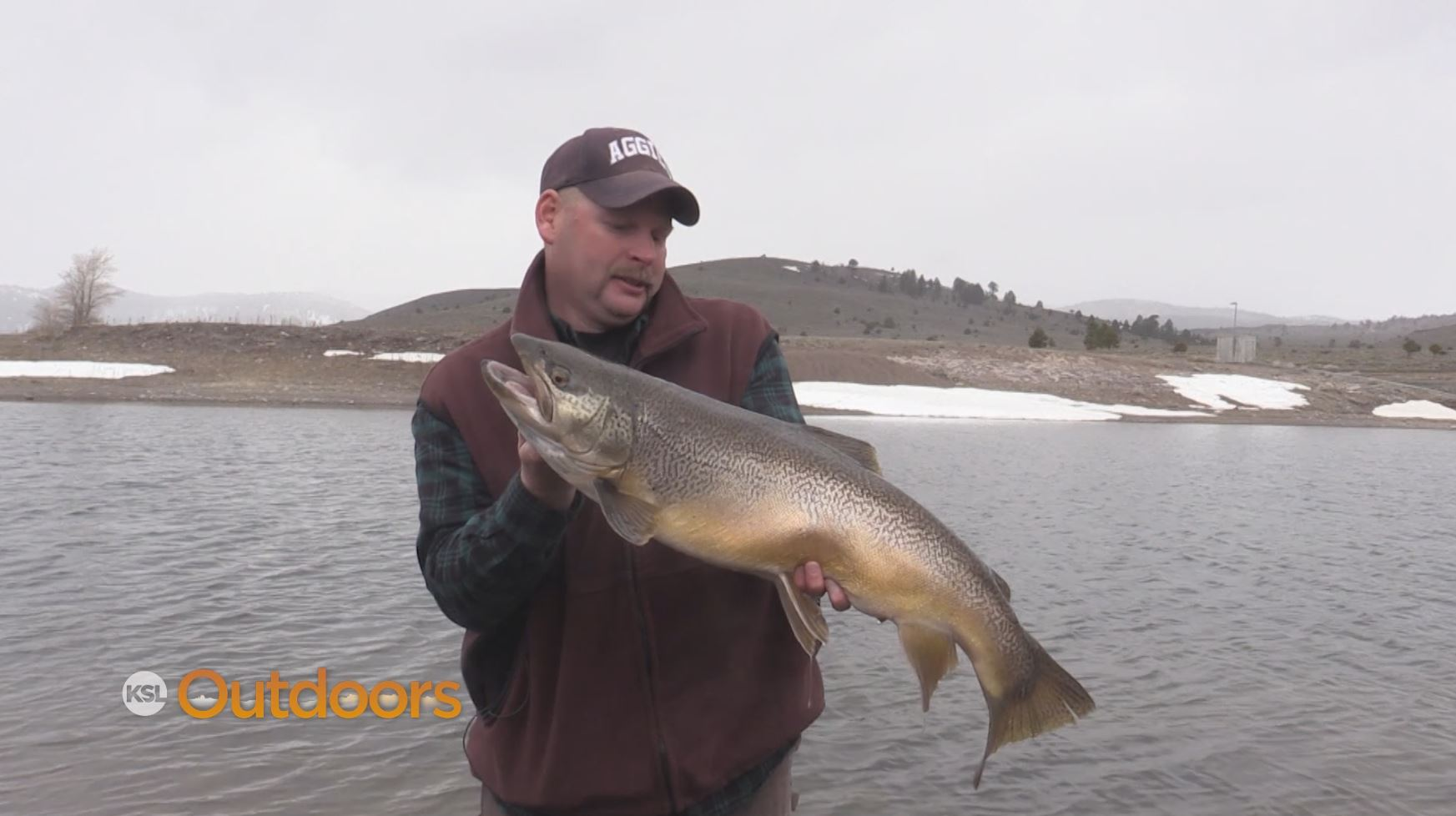 Ksl outdoors huge tiger trout at panguitch lake ice off for Utah ice fishing report