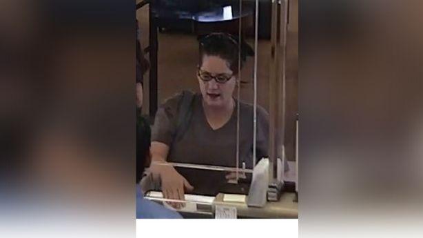 woman robbing 5 banks