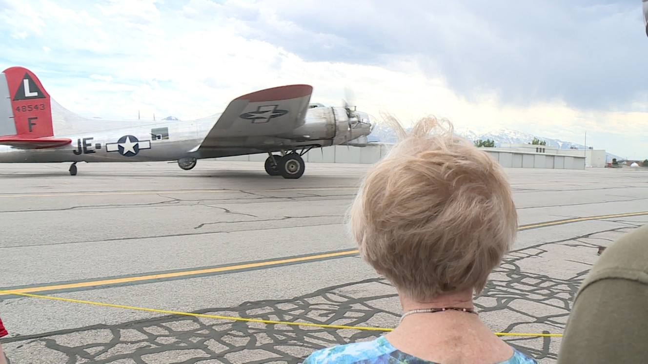 97-year-old Utah woman sends grandsons in WWII bomber to remember her late husband