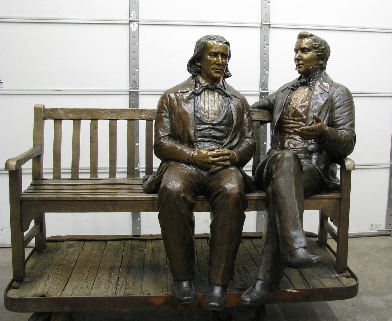 Police recover stolen 800-pound statue of Joseph Smith, Brigham Young