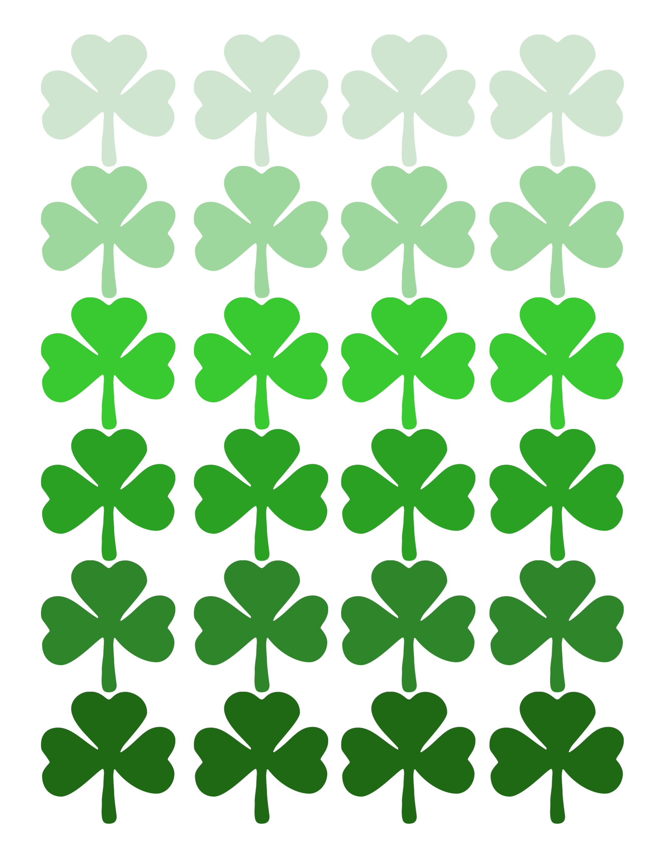 picture regarding Printable Shamrock named Drive Print: Shamrock Practice Ombre Artwork - Studio 5