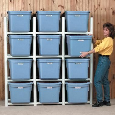 Good The PVC Bin Storage Center Can Be Built To Store Any Shape And Size Bin.  Having The Storage Center Provides A Few Basic Benefits.
