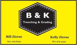 BK Trenching And Grading logo