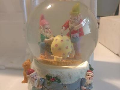 Santa's Workshop Musical Snow Globe