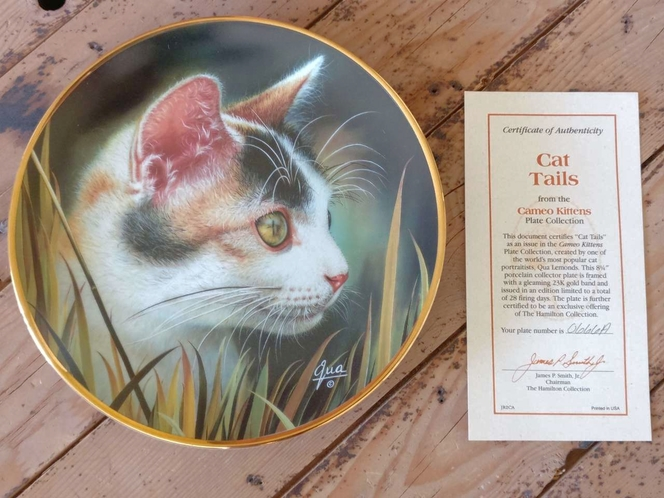 Collectible Plate - Cat Tails (Cameo Kittens collection) for sale in Holladay , UT