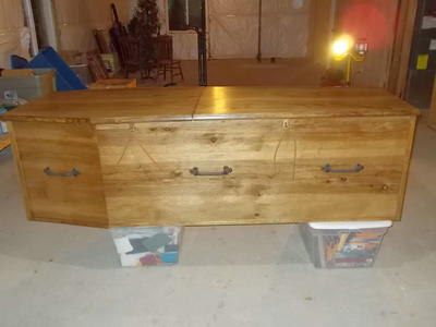Rustic Hickory Coffin