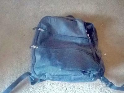 Backpack with changing pad.
