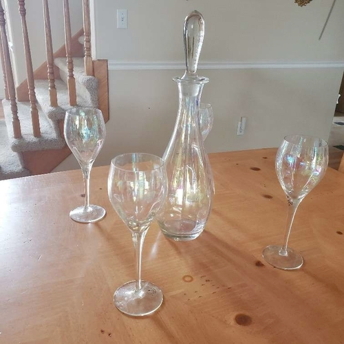 Toscany Rainbow Wine Set with 4 Glasses for sale in Cottonwood Heights , UT