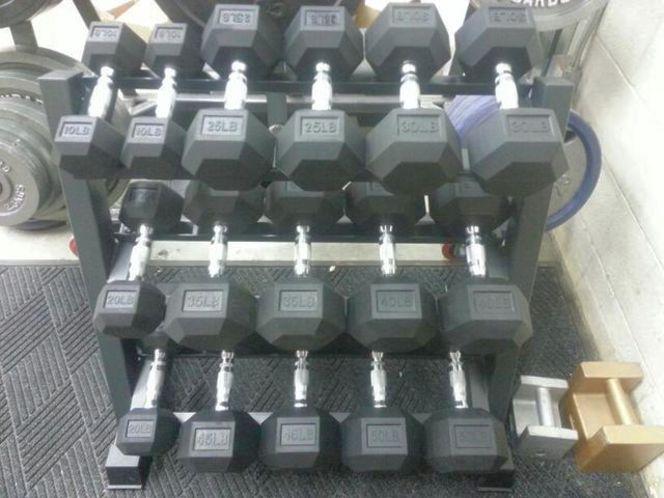 New 10-45 Lb Premium Rubber Hex Dumbbell Set *D1F for sale in Midvale , UT