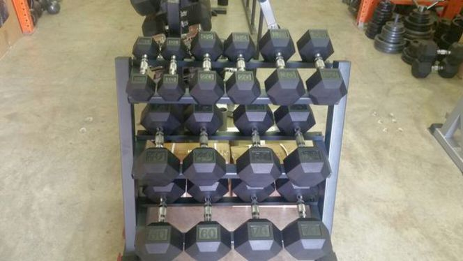 10-70# New Rubber Hex Dumbbell Set (DBCR 171) for sale in Underdogs in Midvale , UT