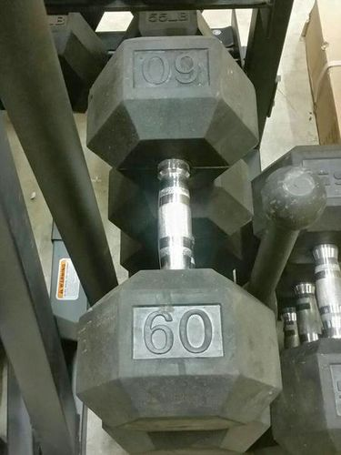 60-100# Pairs of Rubber Hex Dumbbells *dbh* for sale in Midvale , UT