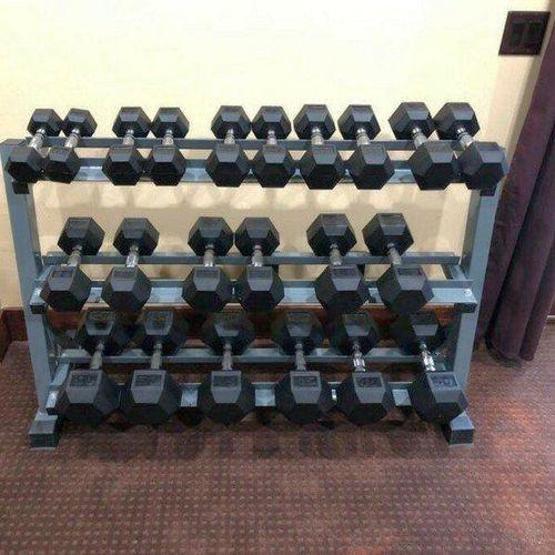 10-50LB Rubber Hex Dumbbell Set +BENCH! *DBH*CH03* for sale in Midvale , UT
