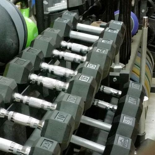 Classic Rubber Hex Dumbbell Set 40-45-50 Pairs DBH for sale in Underdogs In Midvale , UT