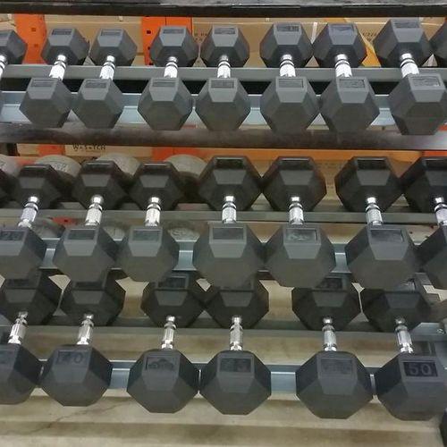 NEW 10-55LB Rubber Hex Dumbbell Set (DBCR)*dbh* for sale in Midvale , UT