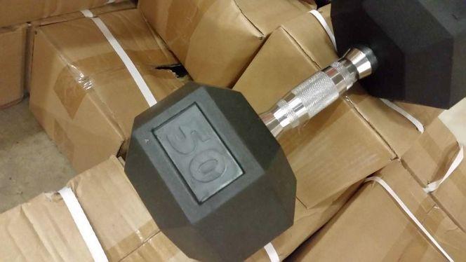 50 LB. Rubber Hex Dumbbells (Pair) *dbh* for sale in Midvale , UT