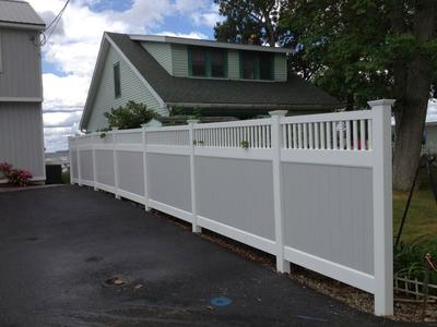 BEAUTIFUL VINYL FENCE AND INSTALLATION