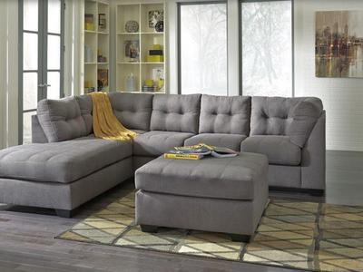 Brand New LAF  452 Gray Sectional Sofa