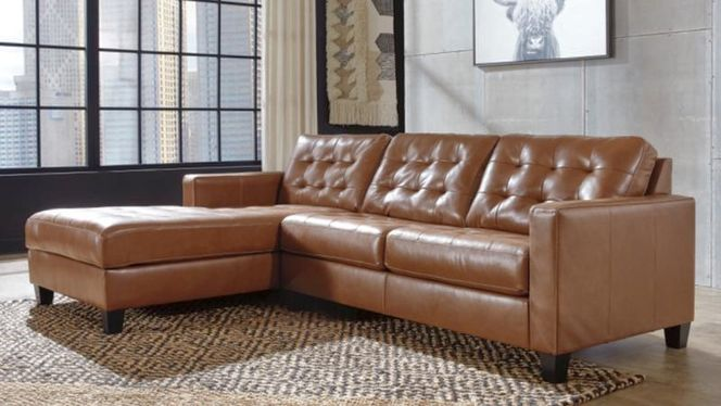 111 Left Facing Chaise Leather Sectional for sale in Midvale , UT