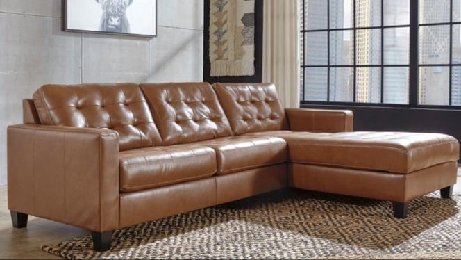 New Right Facing Chaise Leather Sectional for sale in Midvale , UT