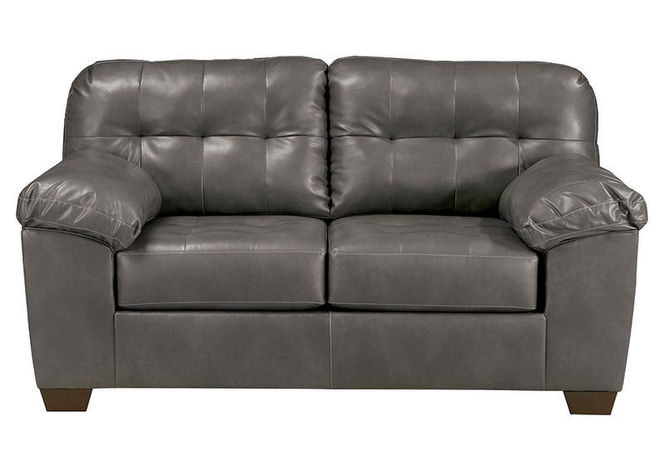 201 Gray Faux Leather Loveseat for sale in Midvale , UT