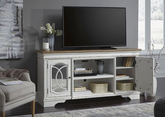 W743 Realyn White XL TV Stand for sale in Midvale , UT