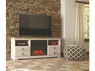 W267 TV Stand with Fireplace