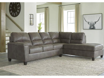 94002 Faux Leather Sectional