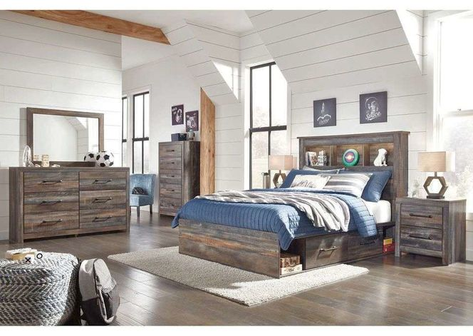 B211 Full Bed With Storage & Dresser Mirror for sale in Midvale , UT