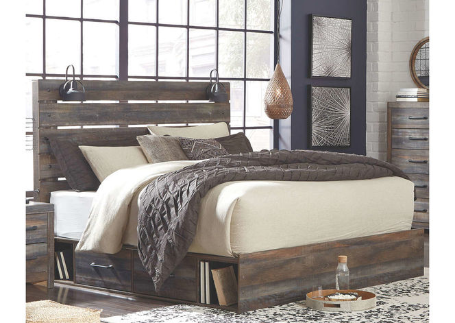 B211 King Panel Bed with Side Storage for sale in Midvale , UT