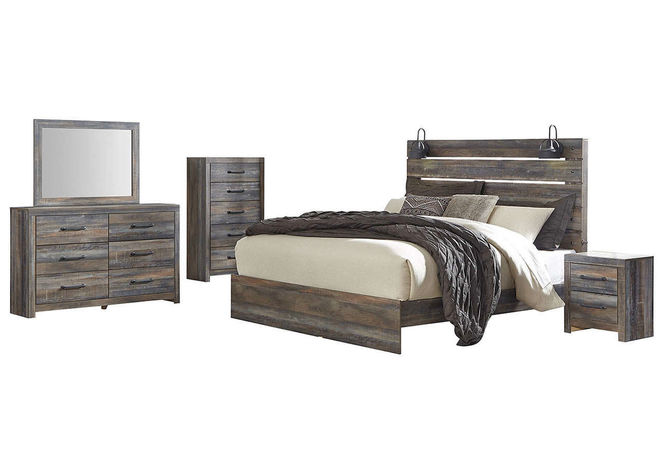 B211 King Panel Bed with Dresser & Mirror for sale in Midvale , UT