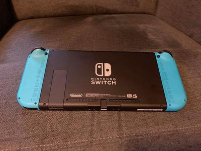 Neon Blue Switch Handheld Only.  Glass Screen Prot